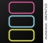 vector set of neon frames of...   Shutterstock .eps vector #1882967122