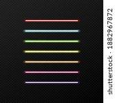 vector set of neon color.... | Shutterstock .eps vector #1882967872