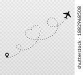 vector dotted hearts. honeymoon ... | Shutterstock .eps vector #1882968508