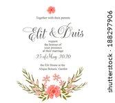 wedding invitation | Shutterstock .eps vector #188297906