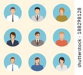 business people flat design... | Shutterstock .eps vector #188298128