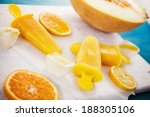 homemade orange popsicles with... | Shutterstock . vector #188305106
