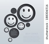 vector modern emotions... | Shutterstock .eps vector #188306516