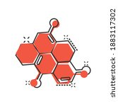 science icon in comic style.... | Shutterstock .eps vector #1883117302