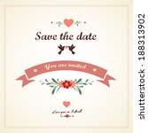 save the date  wedding... | Shutterstock .eps vector #188313902
