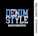 denim style design typography   ...   Shutterstock .eps vector #1883157988