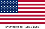 Stars and stripes - Star sprinkled banner - USA flag vector illustration - stock vector