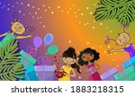 bright festive background with... | Shutterstock .eps vector #1883218315