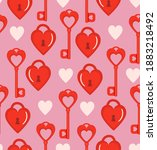 romantic seamless pattern with... | Shutterstock .eps vector #1883218492