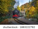 A Steam Locomotive In Dresden ...