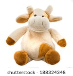 Sitting Cow Soft Toy Isolated...