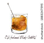 Old Fashioned Whisky Cocktail...
