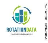 rotation data vector logo... | Shutterstock .eps vector #1883250742