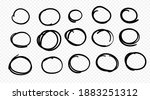 hand drawn circle line sketch...   Shutterstock .eps vector #1883251312