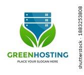 green hosting or server vector... | Shutterstock .eps vector #1883253808