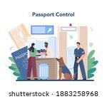 customs officer concept.... | Shutterstock .eps vector #1883258968