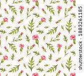 seamless watercolor pattern...   Shutterstock . vector #1883261185