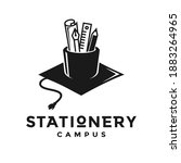 stationery campus vector logo... | Shutterstock .eps vector #1883264965