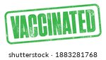 vaccinated stamp with detailed... | Shutterstock .eps vector #1883281768