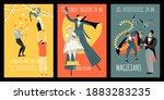 set of vector invitation...   Shutterstock .eps vector #1883283235