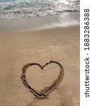 Love And Heart Shape Written In ...