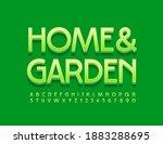 vector green emblem home and...   Shutterstock .eps vector #1883288695