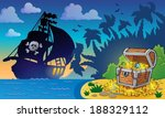 pirate theme with treasure... | Shutterstock .eps vector #188329112