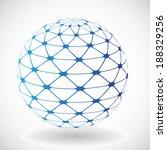 abstract vector sphere  | Shutterstock .eps vector #188329256