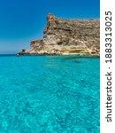 blue sea and blue sky rocks... | Shutterstock . vector #1883313025