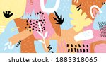 abstract collage horizontal... | Shutterstock .eps vector #1883318065