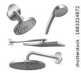 shower metal heads  showerhead  ... | Shutterstock .eps vector #1883324872