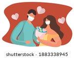 valentine's day celebration... | Shutterstock .eps vector #1883338945