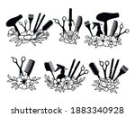 set of hairdressing tools with...   Shutterstock .eps vector #1883340928