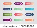 big set of button for website...   Shutterstock .eps vector #1883343208