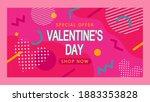 banner for valentines day...   Shutterstock .eps vector #1883353828