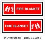 fire blanket symbol sign ... | Shutterstock .eps vector #1883361058