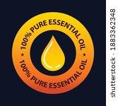 100  pure essential oil vector...   Shutterstock .eps vector #1883362348