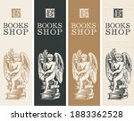 set of banners for a books shop ...   Shutterstock .eps vector #1883362528