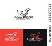creative vector image bird logo....   Shutterstock .eps vector #1883377315