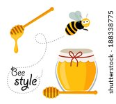 collection of honey related... | Shutterstock .eps vector #188338775
