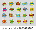 stickers set  retro colorful... | Shutterstock .eps vector #1883423785