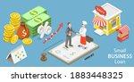 3d isometric flat vector... | Shutterstock .eps vector #1883448325