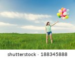 young beautiful woman with...   Shutterstock . vector #188345888
