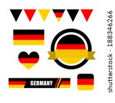 germany flag  banner and icon... | Shutterstock .eps vector #188346266