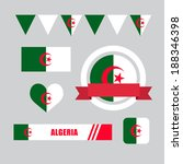 algeria flag  banner and icon... | Shutterstock .eps vector #188346398