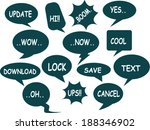a collection of comic style... | Shutterstock .eps vector #188346902