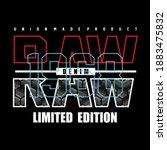 raw denim typography graphic... | Shutterstock .eps vector #1883475832