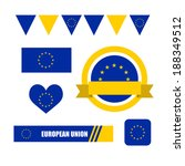 european union flag  banner and ... | Shutterstock .eps vector #188349512