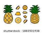 cute doodle  hand drawn set ... | Shutterstock .eps vector #1883501938