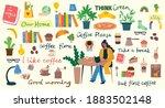coffee set vector illustrations.... | Shutterstock .eps vector #1883502148